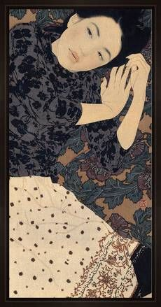 Ikenaga Yasunari - Illustration - Nihonga Style - Three thousand days, Shima