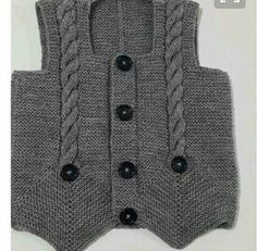 boy's vest with ribbing detail Knitting For Kids, Baby Knitting, Super Moda, Share Pictures, Upload Pictures, Knitting Machine Patterns, Knitted Baby Cardigan, Unique Crochet, Baby Vest