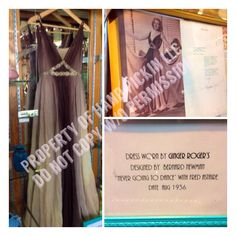 This is A dress worn by Ginger Rogers and we are so lucky to have it on display :)