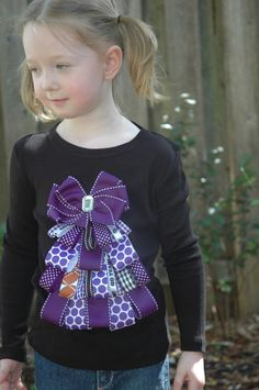 TCU ribbon tree Christmas shirt. $24.00, via Etsy.