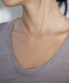 m, of course! g sterling silver block letter initial necklace by christinakober Silver Earrings, Silver Jewelry, Silver Ring, Diamond Jewelry, Letter Necklace, Initial Pendant, Dainty Necklace, Delicate Necklaces, Vogue