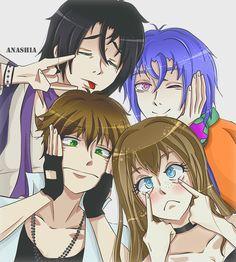 Armin, Alexy, Kentin and Anashia by AnashiaAmourSucre on DeviantArt