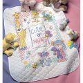 """Dimensions Baby Hugs Cute...Or What? Quilt Stamped Cross Stitch Kit, 34"""" x 43"""""""