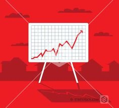 Red Graph Profit Sign