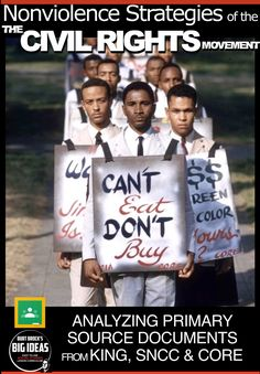 Nonviolence Strategies of the Civil Rights Movement + Distance Learning Version Teaching American History, American History Lessons, World History Lessons, History Education, Teaching History, Social Studies Notebook, Teaching Social Studies, History Lesson Plans, Substitute Teacher
