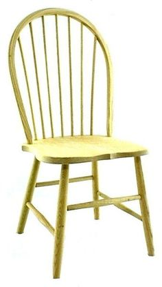Amish Oak Straight Spindle Windsor Chair Amish Oak Straight Spindle Windsor Chair. Windsor comfort built in solid oak. Great price. #Windsors