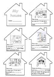 English Worksheets PARTS OF THE HOUSE AND PIECES OF FURNITURE Part I  school etc  Pinterest