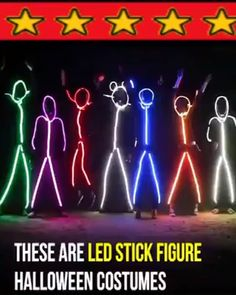 Halloween Costume -- LED Stick Figure Kit Buy 2 Get 5% OFF / Buy 4 Get 8% OFF