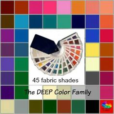 Color Analysis fabric swatch - Tonal and Seasonal #color analysis #fabric swatch http://www.style-yourself-confident.com/color-analysis-swatch.html