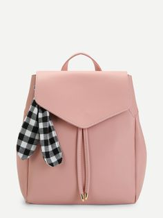 To find out about the Scarf Decorated PU Backpack at SHEIN, part of our latest Backpack ready to shop online today! Cute Mini Backpacks, Stylish Backpacks, Girl Backpacks, Leather Backpacks, Fashion Bags, Fashion Backpack, Latest Bags, Accesorios Casual, Cute Purses