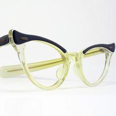 vintage cat eye glasses on etsy $34