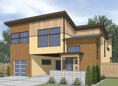 Eplans Modern House Plan - Inspiration Outside the Box - 2405 Square Feet and 3 Bedrooms from Eplans - House Plan Code HWEPL68665