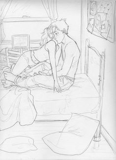 annabeth's room by *burdge-bug on deviantART ----- I've been looking for someone flustered in excitement for days!