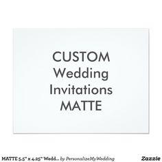 "MATTE 5.5"" x 4.25"" Wedding Invitations"