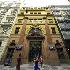 Vintage building at Alvares Penteado street - Sao Paulo, Brazil