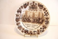 Centennial Canada 1967 Fathers of Confederation Collector Plate Vintage by okanaganvintage on Etsy