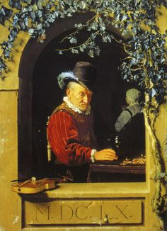 Frans van Mieris the Elder - The old violinist