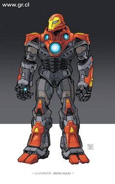 Ultimate Ironman color by GabrielRodriguez on DeviantArt Steven Universe Comic, Batman Universe, Marvel Ultimate Universe, Plantas Versus Zombies, Iron Man Fan Art, Superior Iron Man, Best Iron, Marvel Drawings, Ironman