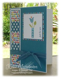"""The layout for this card is also another simple layout, and those squares are made with the 1"""" Square Punch."""