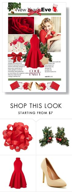 """""""New Year Eve"""" by janiaame ❤ liked on Polyvore featuring Miss Selfridge, Top Guy, Judith Leiber, reddress, winter2015 and janiamania"""