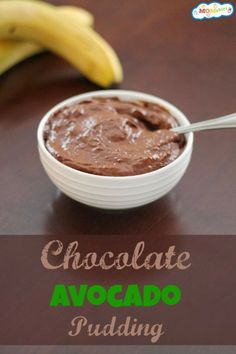 Banana Avocado Chocolate Pudding - You would never guess there is avocado in this when you taste it!
