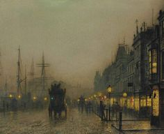 Reekie, Glasgow, John Atkinson Grimshaw. English (1836 - 1893)