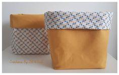 Paniers / Vide poches / Corbeilles en tissu réversibles
