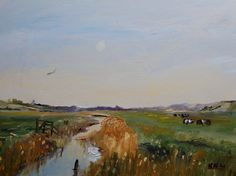 Cley Cattle oil 'I painted this on location' KRW