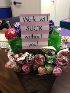 Diy gifts for coworkers leaving teacher appreciation Ideas Homemade Gifts, Diy Gifts, Staff Appreciation Gifts, Staff Gifts, Volunteer Gifts, Goodbye Party, Retirement Parties, Retirement Ideas, Retirement Decorations
