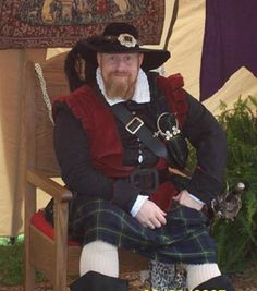 Jeremy Browne as James I. Shakespeare and Friends Renaissance Faire