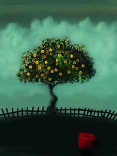 iPad art, lemon tree