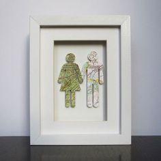 framed where we're from couple with maps #idea #crafts