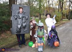 Why not get the whole family in on the fun. #geek #StarWars #costume