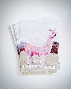 pink lamacorn sticker set