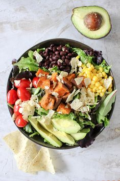 Southwestern Power Salad with Chili-Lime Vinaigrette | Yes to Yolks