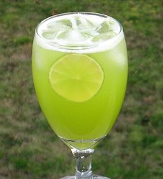 Mountain Dew Me:  Melon Liqueur, Triple Sec, Pineapple Juice, 7-Up