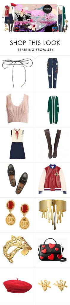 """""""and in the end i think your my best friend// don't you know that the kids aren't alright"""" by jaloolia ❤ liked on Polyvore featuring GET LOST, Lilou, River Island, Sans Souci, VIVETTA, Gucci, Chanel, Eina Ahluwalia, Kate Spade and Brixton"""