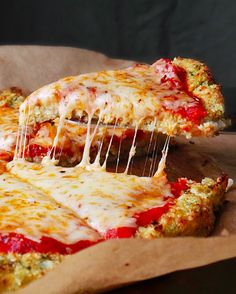 Cheese Pizza with a Cauliflower Pesto Crust | 21 Healthyish Recipes For People Who Can't Live Without Cheese