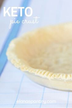 Keto - Paleo - Low Carb Pie Crust