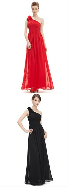 The dress is featuring one shoulder, floral decoration, sleeveless, back zipper closure, high waist and solid color.