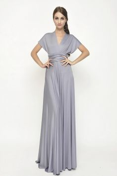 120 cool grey maxi convertible dress infinity bridesmaid dress [lg-47] - $73.80 : Infinity Dress | Convertible Dress Bridesmaid Dresses Online, TinnaInfinityDress