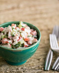Crab Salad with Cucumber and Tomato Recipe