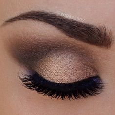 blended browns with soft, feathery lashes