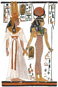 Queen Nefertari and Isis.