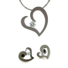 B Tiff Heart Jewelry Set Heart Jewelry Set Heart Jewelry Jewelry Sets