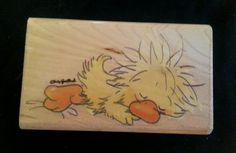 Rubber Stampede Sleeping Witzy Rubber Stamp Duck Sleepy Baby Bird Suzy's Zoo