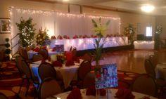 Hilton Garden Inn banquet room looks superb. Allen's Flowers, Inc Columbia MO Call 573-443-8719
