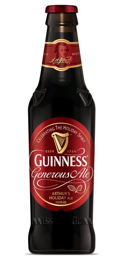Guinness Generous Holiday Ale - New School Beer Guinness, Irish Beer, Dark Beer, Beer Brands, Beer Packaging, Beer Recipes, Beer Label, Wine And Beer, Best Beer