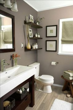 Find inspiration for bathroom paint colors and try out a selection of paint swatches today. See more ideas about Bathroom paint colors. decor ideas colors 111 World`s Best Bathroom Color Schemes For Your Home Bathroom Color Schemes, Bathroom Paint Colors, Paint For Bathroom Walls, Small Bathroom Colors, Kitchen Paint, Bathroom Paint Design, Small Bedroom Paint Colors, Bathroom Paintings, Restroom Design