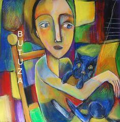 Swiss Artist Painter   Painted by Cathy Butuza  #outsiderart #artbrut #art #artist #artistic #artwork #facesart #acrylic #painting #illustration #illustrationart